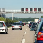 41911060 - cars in traffic jam on highway, in germany